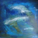 """Rough Waters, 30 x 30"""""""