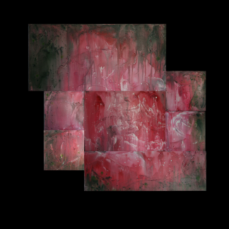 """Gloria, 50x52"""", $1275 (7 separate pieces sold as one)"""